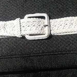 White web  belt 38x2 in$23 + free. Leather belt